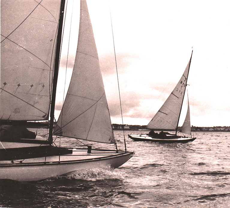 The The 1938-founded Ballyholme Bay Class when still going strong in 1970, with Bobby Swanston's Eileen leading from Frank Humphreys' Penelope. While the class in Bangor is now largely defunct, an active sister-ship has emerged in Isle of Wight ownership