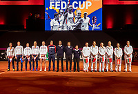 The Hague, The Netherlands, Februari 7, 2020,    Sportcampus, FedCup  Netherlands -  Balarus, Team presentation<br /> Photo: Tennisimages/Henk Koster