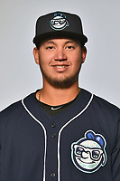 Asheville Tourists pitcher Alejandro Requena (15) poses for a photo at Story Point Media on April 4, 2017 in Asheville, North Carolina. (Tony Farlow/Four Seam Images)
