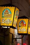 Belgium, West-Flanders, Bruges: Beer Lanterns