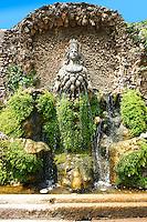 The fountain of Aphrodite of Ephesus, Villa d'Este gardens, Tivoli