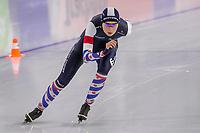 28th December 2020; Thialf Ice Stadium, Heerenveen, Netherlands; World Championship Speed Skating;  3000m ladies, Sanne in t Hof during the WKKT