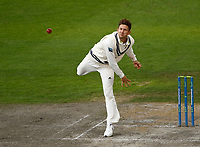 6th July 2021; Emirates Old Trafford, Manchester, Lancashire, England; County Championship Cricket, Lancashire versus Kent, Day 3; Joe Denly of Kent bowls a spell during the final session of play