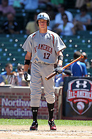 Brandon Nimmo (17) during the 2010 Under Armour All-American Game powered by Baseball Factory at Wrigley Field in Chicago, New York;  August 14, 2010.  Photo By Mike Janes/Four Seam Images