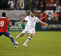CARSON, CA – JANUARY 22: USA defender Omar Gonzalez (4) during the international friendly match between USA and Chile at the Home Depot Center, January 22, 2011 in Carson, California. Final score USA 1, Chile 1.