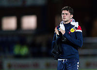 Bolton Wanderers' Joe White applauds the travelling fans at the end of the match<br /> <br /> Photographer Andrew Kearns/CameraSport<br /> <br /> The Carabao Cup First Round - Rochdale v Bolton Wanderers - Tuesday 13th August 2019 - Spotland Stadium - Rochdale<br />  <br /> World Copyright © 2019 CameraSport. All rights reserved. 43 Linden Ave. Countesthorpe. Leicester. England. LE8 5PG - Tel: +44 (0) 116 277 4147 - admin@camerasport.com - www.camerasport.com