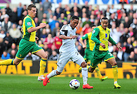 Swansea v Norwich, Liberty Stadium, Saturday 29th march 2014...<br />  Swansea's Jonathan De Guzman