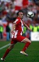 Fudbal, Jelen super liga, sezona 2010/11.Derby, Derbi.Crvena Zvezda Vs. Partizan.Ognjen Koroman.Belgrade, 23.10.2010..foto: Srdjan Stevanovic/Starsportphoto ©