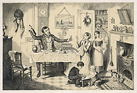 An English workman and his family / George Cruikshank 'The Bottle' plate 1 of 8 / 1847