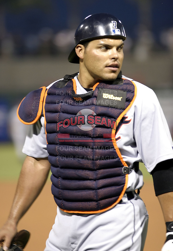 March 29, 2004:  Ivan Rodriguez of the Detroit Tigers organization during Spring Training at Bright House Networks Field in Clearwater, FL.  Photo copyright Mike Janes/Four Seam Images