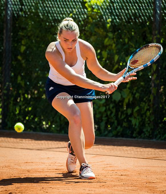 The Hague, Netherlands, 11 June, 2017, Tennis, Play-Offs Competition, Elke Tiel (NED)<br /> Photo: Henk Koster/tennisimages.com