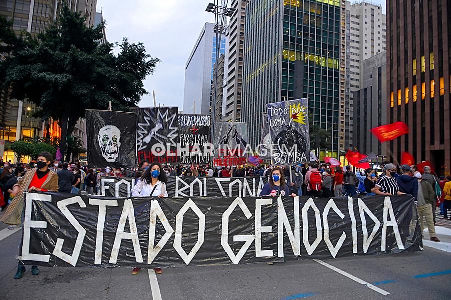 Manifestação popular contra o fascismo Fora Bolsonaro, Avenida Paulista. São Paulo. 20.06.2021. Foto Juca Martins