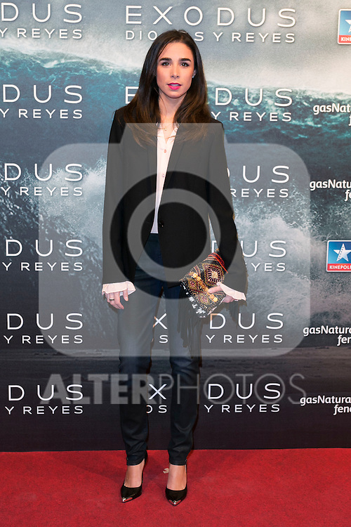 "attend the Premiere of the movie ""EXODUS: GODS AND KINGS"" at callao Cinema in Madrid, Spain. December 4, 2014. (ALTERPHOTOS/Carlos Dafonte)"