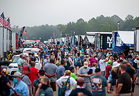 Sep 27, 2020; Gainesville, Florida, USA; NHRA fans walk through the pit area during the Gatornationals at Gainesville Raceway. Mandatory Credit: Mark J. Rebilas-USA TODAY Sports