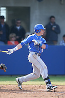 Kyle Barrett  (4) of the Kentucky Wildcats bats during a game against the UC Santa Barbara Gauchos at Caesar Uyesaka Stadium on March 20, 2015 in Santa Barbara, California. UC Santa Barbara defeated Kentucky, 10-3. (Larry Goren/Four Seam Images)