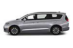 Car Driver side profile view of a 2021 Chrysler Pacifica Touring-L 5 Door Minivan Side View