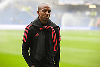 Ashley Young of Manchester United (18) before the Premier League match between Brighton and Hove Albion and Manchester United at the American Express Community Stadium, Brighton and Hove, England on 19 August 2018. Photo by Edward Thomas / PRiME Media Images.