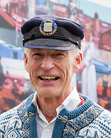 Man wearing traditional Norwegian clothing, 17th of May Festival 2016, Ballard, Seattle, WA, USA.