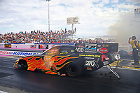 Oct 28, 2016; Las Vegas, NV, USA; NHRA funny car driver Jim Campbell during qualifying for the Toyota Nationals at The Strip at Las Vegas Motor Speedway. Mandatory Credit: Mark J. Rebilas-USA TODAY Sports
