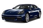 2018 Porsche Panamera 4S 5 Door Hatchback angular front stock photos of front three quarter view