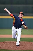 Houston Astros pitcher Chad Qualls (50) during a spring training game against the Miami Marlins on March 21, 2014 at Osceola County Stadium in Kissimmee, Florida.  Miami defeated Houston 7-2.  (Mike Janes/Four Seam Images)