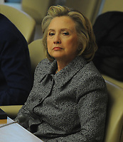 NEW YORK, NY - MARCH 10: Hillary Clinton holds a press conference regarding her UN Woman's Day speech and her email controversy at United Nations on March 10, 2015 in New York City.<br /> <br /> People:  Former United States Secretary of State Hillary Rodham Clinton