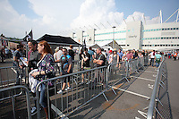 Pictured: Queues of Manic Streets Preacher fans Saturday May 2016<br /> Re: Manic Street Preachers at the Liberty Stadium, Swansea, Wales, UK