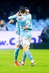 Celta de Vigo's Iago Aspas and Hugo Mallo celebrate goal  during La Liga match. April, 8th,2019. (ALTERPHOTOS/Alconada)