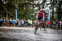 RIgoberto Uran (COL/EF Education First) up the Col de Porte (final climb to the finish)<br /> <br /> Stage 2: Vienne to Col de Porte (135km)<br /> 72st Critérium du Dauphiné 2020 (2.UWT)<br /> <br /> ©kramon