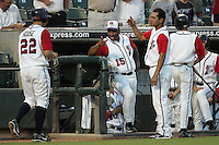 Jackson, Ron RR Express coach 6221.jpg. Pacific Coast League. Nashville Sounds at Round Rock Express. Dell Diamond. June 28th, 2008 in Round Rock Texas. Photo by Andrew Woolley.