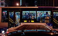 A bus in CBD of Beijing, China. .06 Jan 2006