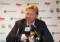 09-02-13, Tennis, Rotterdam, qualification ABNAMROWTT, Boris Becker, in the pressconference