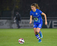 Gent's Fran Meersman pictured during a female soccer game between  AA Gent Ladies and Oud Heverlee Leuven on the 9th matchday of the 2020 - 2021 season of Belgian Scooore Womens Super League , friday 11 th of December 2020  in Oostakker , Belgium . PHOTO SPORTPIX.BE | SPP | DIRK VUYLSTEKE