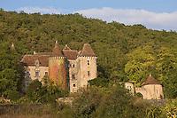 Europe/France/Midi-Pyrénées/46/Lot/Env de Figeac/Ceint d'Eau: Manoir de Ceint d'Eau du 16 ème et remanié au 17 ème