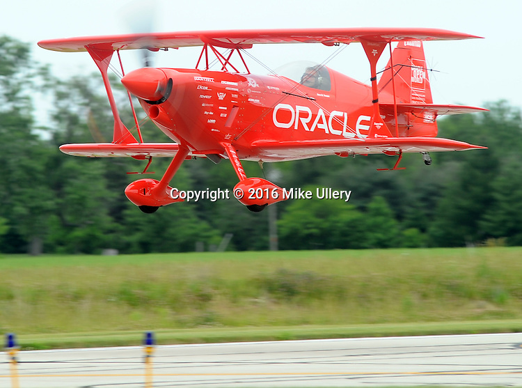 Sean D. Tucker polishes his routine at Piqua Airport/Hartzell Field on June 14, 2016 in preparation for this weekend's Vectren Dayton Air Show.