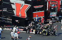 Apr. 14, 2012; Concord, NC, USA: NHRA top fuel dragster driver Doug Kalitta during qualifying for the Four Wide Nationals at zMax Dragway. Mandatory Credit: Mark J. Rebilas-