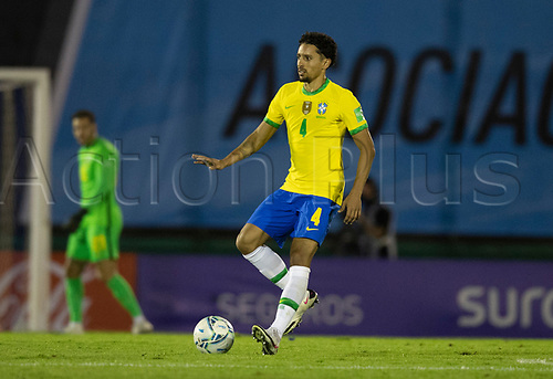17th November 2020; Centenario Stadium, Montevideo, Uruguay; Fifa World Cup 2022 Qualifying football; Uruguay versus Brazil;  Marquinhos of Brazil
