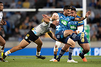 3rd April 2021; Eden Park, Auckland, New Zealand;  Blues 1st-five Otere Black during the Super Rugby Aotearoa rugby match between the Blues and the Hurricanes held at Eden Park, Auckland, New Zealand.