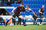 St Johnstone v Inverness Caledonian Thistle....22.02.14    SPFL<br /> Ross Draper and Chris Millar<br /> Picture by Graeme Hart.<br /> Copyright Perthshire Picture Agency<br /> Tel: 01738 623350  Mobile: 07990 594431