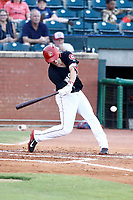 Chris Paul (5) of the Chattanooga Lookouts swings and makes contact with the ball during the second inning against the Montgomery Biscuits on May 26, 2018 at AT&T Field in Chattanooga, Tennessee. (Andy Mitchell/Four Seam Images)
