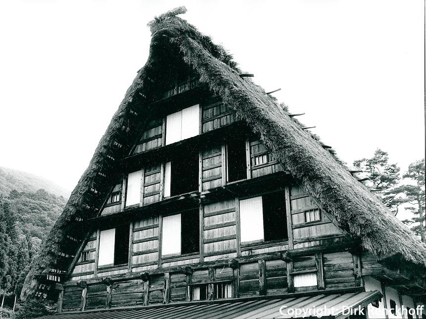 Haus im Gassho-Stil in Shirakawa, Japan