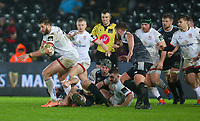 Saturday 15th February 2020 | Ospreys vs Ulster Rugby<br /> <br /> Stuart McCloskey during the PRO14 Round 11 clash between the Ospreys and Ulster Rugby at the Liberty Stadium, Swansea, Wales. Photo by John Dickson/DICKSONDIGITAL