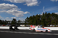 Mar 15, 2014; Gainesville, FL, USA; NHRA funny car driver Bob Tasca III during qualifying for the Gatornationals at Gainesville Raceway Mandatory Credit: Mark J. Rebilas-USA TODAY Sports