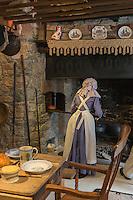 Royaume-Uni, îles Anglo-Normandes, île de Guernesey, Castel : Saumarez Park - Guernsey folk Museum: musée du folklore, la cuisine // United Kingdom, Channel Islands, Guernsey island, Castel : Saumarez Park , Guernsey folk Museum, the kitchen