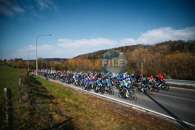 The start of the 107th edition of Liege-Bastogne-Liege 2021, running 259.1km from Liege to Liege, Belgium. 25th April 2021.  <br /> Picture: A.S.O./Aurelien Vialatte | Cyclefile<br /> <br /> All photos usage must carry mandatory copyright credit (© Cyclefile | A.S.O./Aurelien Vialatte)