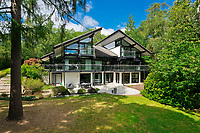 BNPS.co.uk (01202) 558833. <br /> Pic: Savills/BNPS<br /> <br /> Pictured: The five-bedroom home sits in an acre of grounds with gates and dense woodland for privacy.<br /> <br /> The UK home of Hollywood actor Antonio Banderas is on the market for £2.95m.<br /> <br /> The Mask of Zorro star moved from LA to Cobham in Surrey in 2015 with girlfriend Nicole Kimpel after splitting from his wife of 20 years Melanie Griffiths.<br /> <br /> They are now selling their home to spend more time in Banderas' native Malaga, where he has bought and built a theatre.
