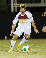 The Winthrop University Eagles beat the UNC Asheville Bulldogs 4-0 to clinch a spot in the Big South Championship tournament.  Jose Mencia (25)