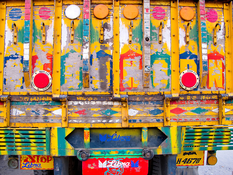 Painted trucks, New Delhi