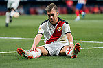 Adrian Embarba Blazquez, A Embarba, of Rayo Vallecano reacts sitting on the pitch during the La Liga 2018-19 match between Atletico de Madrid and Rayo Vallecano at Wanda Metropolitano on August 25 2018 in Madrid, Spain. Photo by Diego Souto / Power Sport Images