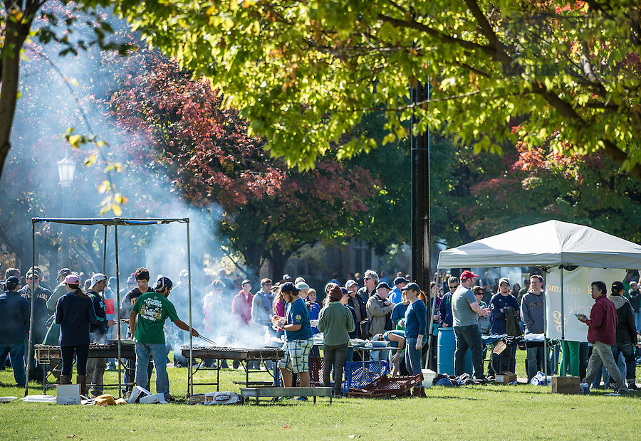 Oct 11, 2014; Concession stands on South Quad before the North Carolina game. (Photo by Matt Cashore)